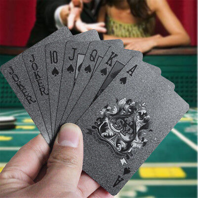 Magic Waterproof Diamond Black Plastic PET Poker Playing Cards for Table Game