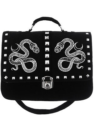 Restyle Moon Snake Messenger Bag Gothic Witchy Nu Goth Backpack