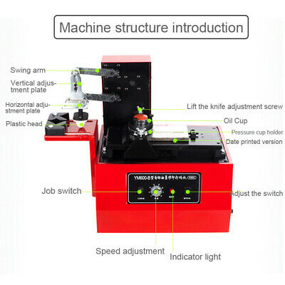 110V Ink Printer Commodity Logo Printing Production Date Electric Jet Printer