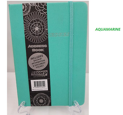 Ozcorp A5 Address Book Contempo - 3 different colours