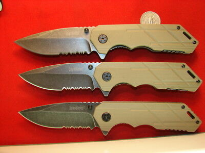 lot of 3 KERSHAW SPEED ASSIST KNIFE TAN   131336