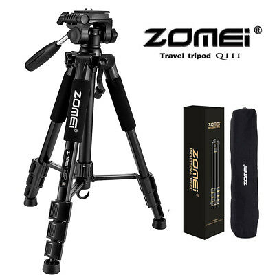 ZOMEI Q111 Heavy Duty Travel Tripod&Pan Head Aluminum Portable for Camer Black Y