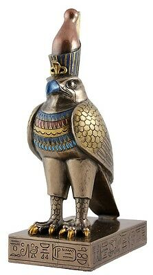 Horus Egyptian Statue - Poly Resin and Bronze Cast - 21(H) x 7.5(W) x 12(D)cm