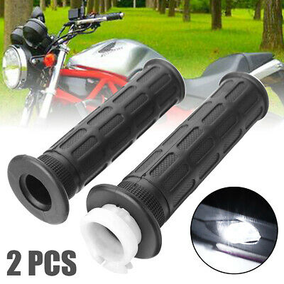 2Pcs Motorcycle Hand Grip+Throttle Cable Tube Sleeve For Honda Dirt Bike Rubber