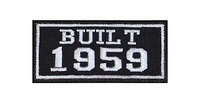 Built 1959 Biker Patches Year of Birth Construction Number Motorcycle MC Badge