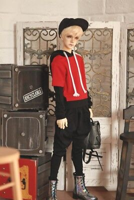 BJD doll clothes for 1/3 BJD SD17 Uncle size baseball jacket BJD coat with caps