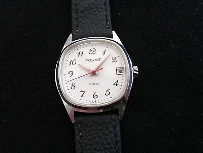Rare Vintage Old POLJOT 2614.2H 17 Jewels Made in USSR Men's Russian Wrist Watch