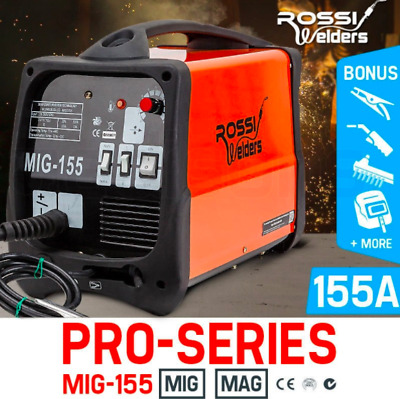 Powerful 30-155Amp MIG MAG Gas/Gasless Inverter Welding Machine DC Inverter Tool