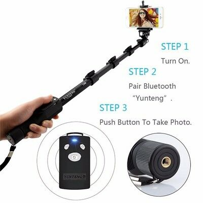 Bluetooth Selfie Stick Extendable Monopod For iPhone Samsung Phone Camera