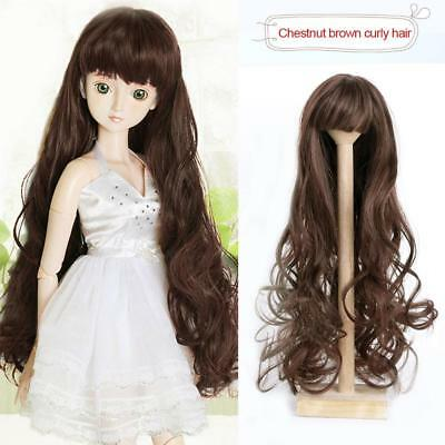 Dolls Wig Hairpiece Curly/Straight Hair for SD DZ AOD DOD LUTS 1/3 BJD dollfie