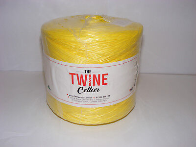 strong UK manufactured Yellow polypropylene 1kg Twine spool for garden / DIY use