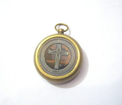 Nautical Vintage Brass Compass Key Chain Key Ring Collectable Gift
