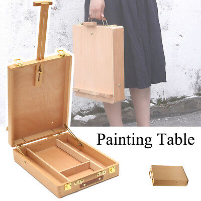 54cm Portable Folding Artist Easel Art Drawing Painting Wood Table Box Board