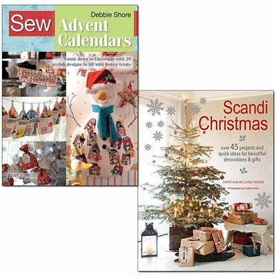 Sew Advent Calendars and Scandi Christmas 2 Books Collection Set Pack NEW