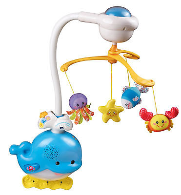 Boys Girls Baby Infant Sleep Soothing Ocean Mobile Crib Light Soother Toy Gift