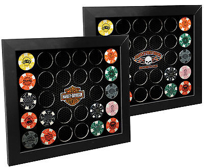 Harley-Davidson® 2-in-1 Poker Chip Collectors Display Frame (Holds 28) 6925D