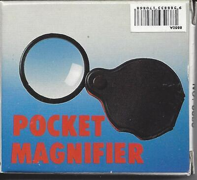 "New Waltex Acrylic Folding Pocket Magnifier 3x M7546 1-7/8"" Lens"