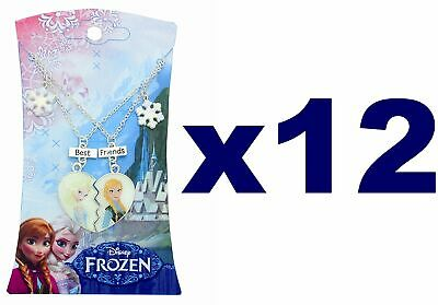 PARTY BUNDLE OF 12 Frozen Best Friends Necklace Pendants