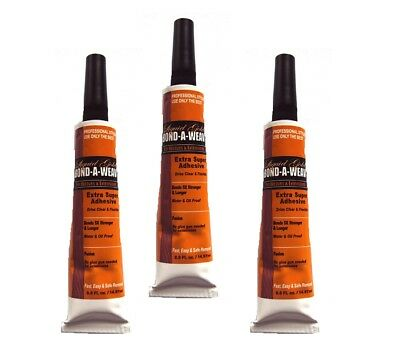 3 x Liquid Gold Glue 1/2 oz Tube Hair Extension/Bond/Weave/Weft