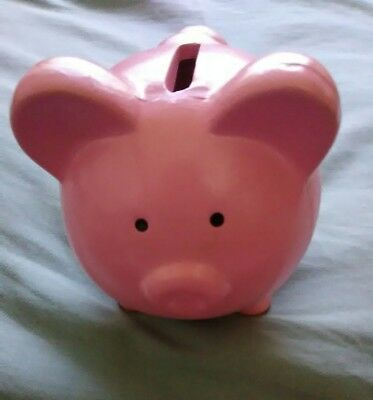 Small ceramic piggy bank-pink