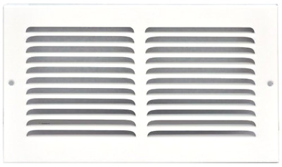 Speedi-Grille SG-104 RAG 10-Inch by 4-Inch White Return Air Vent Grille with Fi