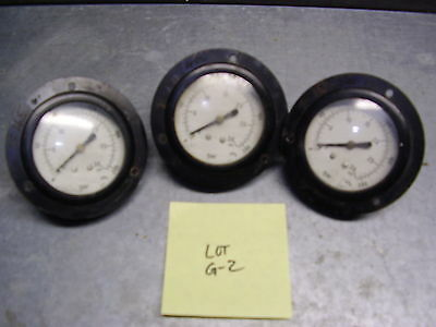 "Panel-Mount Pressure Gages (Lot Of 3) 0-15 Psi With Rear 1/8"" Npt Port Lot G-2"