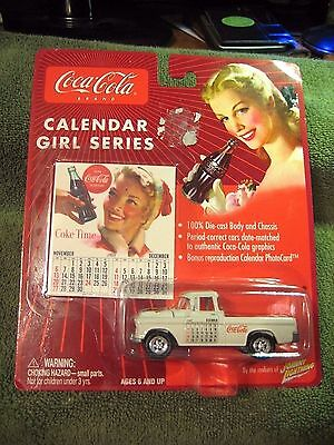 1955 Chevy Cameo Pickup Coca-Cola Truck with Calendar Photo Card