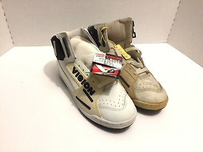 NEW 80's Vision Street Wear Vintage NIB Shoes Mens 8 Wht  Blk Old School SK8 BMX