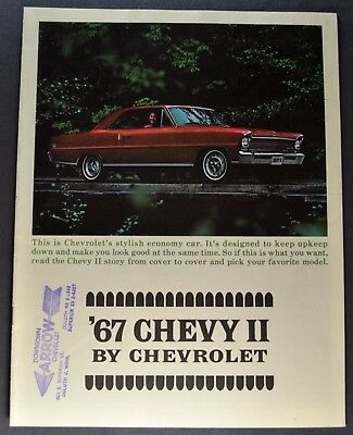 1967 Chevrolet Chevy II Nova Brochure SS Excellent Original 67 Not a Reprint