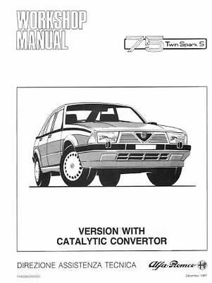 ALFA ROMEO 75 Twin Spark s Workshop manual Instant Download