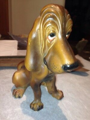 Vintage Hard Plastic Sad Dog