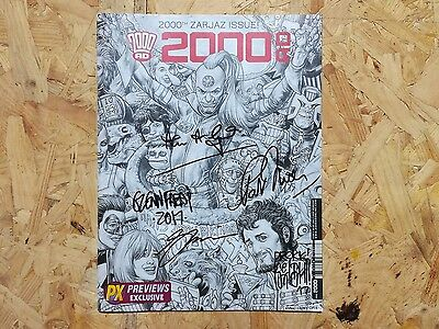 2000AD #2000 - 2016 - signed by Glenn Fabry, Alan Grant, Pat Mills and more!