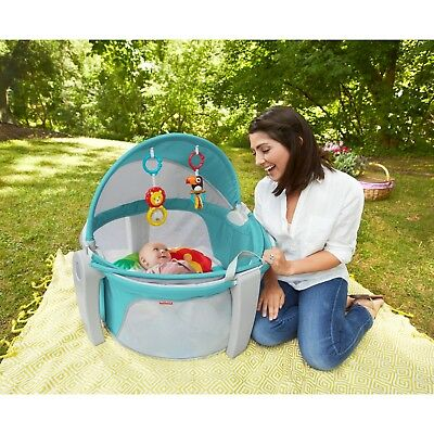 New Fisher Price On The Go Baby Dome Toys Top With Handles Folds Indoor Outdoor