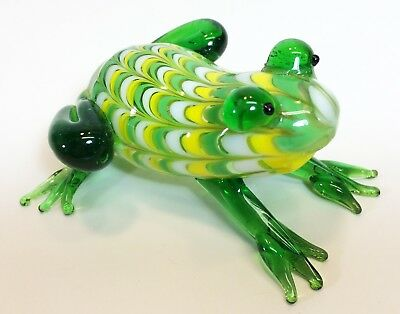 Fitz and Floyd Glass Menagerie Green Frog 43/109 in original box