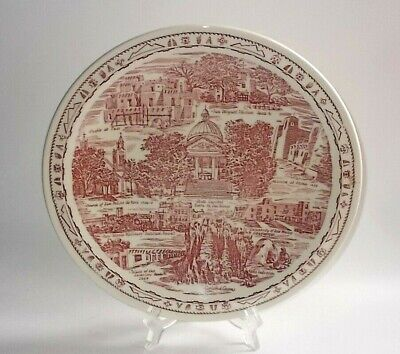 Vintage VERNON KILNS Collector Plate~New Mexico-Land of Enchantment-Old Capitol