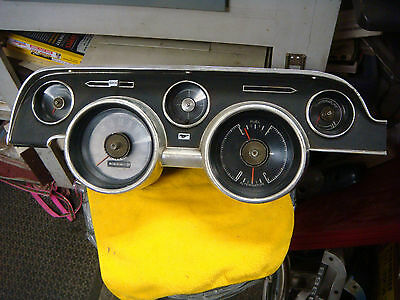 Original 1968 Mustang Instrument Cluster Bezel And Guages  Fastback Gt