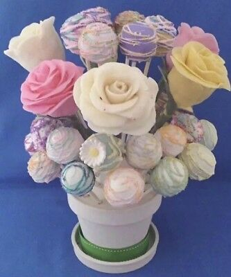 CAKE POP or LOLLIPOP DISPLAY STAND, FLOWER POT SHAPE, 36 HOLE, 4-TIER