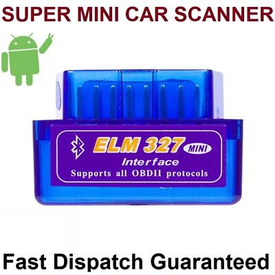 OBD2 II Bluetooth Wireless Car Scanner Diagnostic Code Reader Scan Tool ELM327