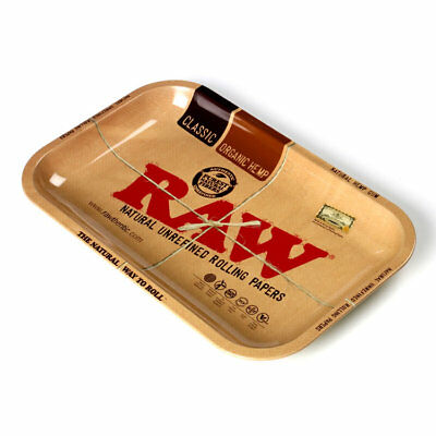 RAW Mini Classic Rolling Tray Metal Quality - 18cm x 12.5cm - FREE UK Delivery