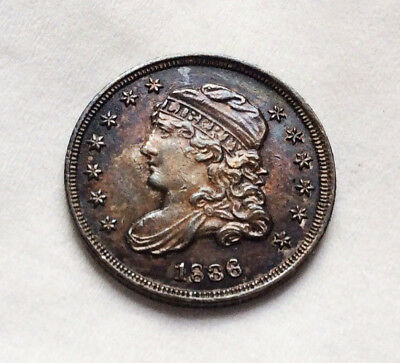 "1836 Capped Bust Half Dime ""Incredible Original Rarity"" 5C AU++"