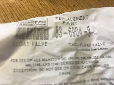 Manitowoc Float Valve Replacement #83-6904-9 - Brand New