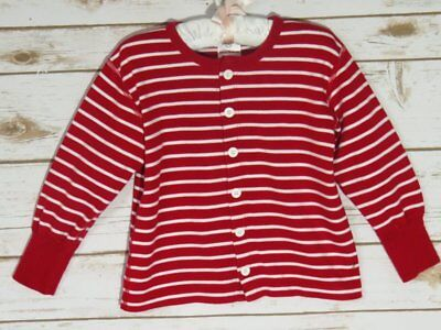 Hanna Andersson Red White Stripe Button Front Top 90 2/3