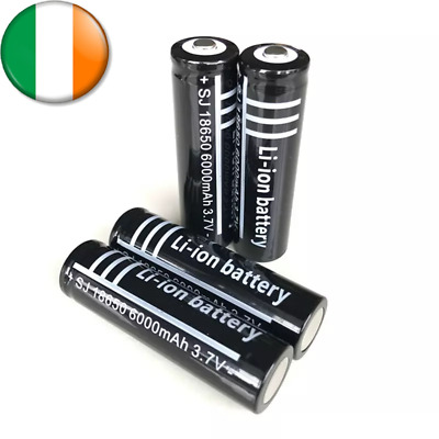 4x 18650 3.7v Rechargeable Battery Batteries 5000mAh CE High Drain 100% Genuine