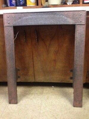 Antique Cast Iron Fireplace Surround Hammered Look****sale***