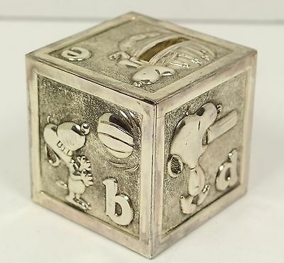 Metal Snoopy Alphabet Cube Coin Bank