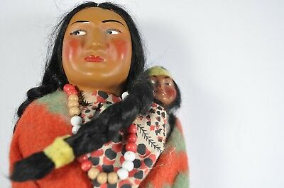 Vintage Skookum Doll With Papoose