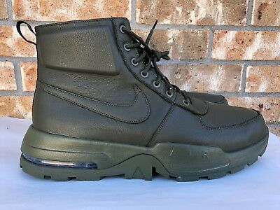 3c55155ee627 Men s Nike Air Max Goaterra 2.0 Leather Cargo Khaki Boots Green SZ 14  916816 300