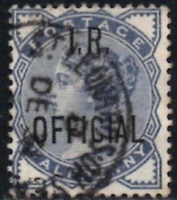 Great Britain 1885 Q/Victoria Official Stamp 1/2d Slate Blue  SG.O5 Used