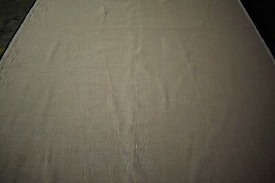 "Natural Tobacco Tan Flax Linen Organic Fabric 62"" W Apparel Shirting Upholstery"