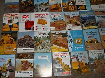 60+ Original 8 1/2 X 11 4-Page Ih Heavy Equipment Ads